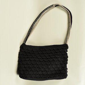 Stone Mountain Black Weave Shoulder Bag